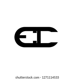 Ec letter design logo in the oval