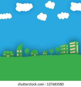 Eco city, eco houses