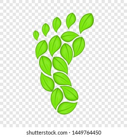 Eco footprint icon in cartoon style isolated on background for any web design