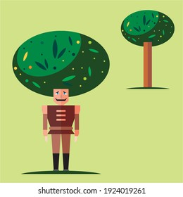 eco and world environment concept, save tree, save planet, guard