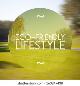Eco-friendly lifestyle poster, illustration of natural life