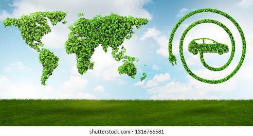 Ecological car concept - 3d rendering