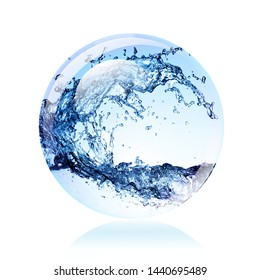 Ecology concept - Water in a sphere