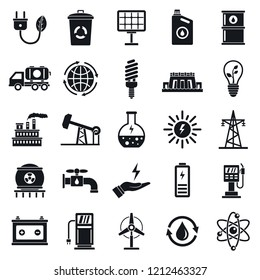 Ecology icon set. Simple set of ecology icons for web design on white background
