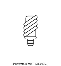 Economical light bulb icon. Simple outline illustration of Sustainable Energy set icons for UI and UX, website or mobile application