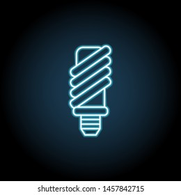 Economical light bulb neon icon. Simple thin line, outline illustration of Sustainable Energy icons for UI and UX, website or mobile application