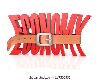 economy with tighten belt