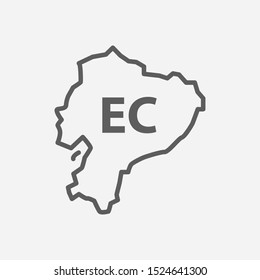 Ecuador icon line symbol. Isolated illustration of icon sign concept for your web site mobile app logo UI design.