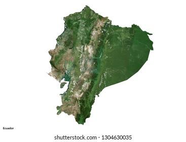 Ecuador Map (3D illustration)