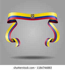 Ecuadorian wavy flag abstract background. Raster version.