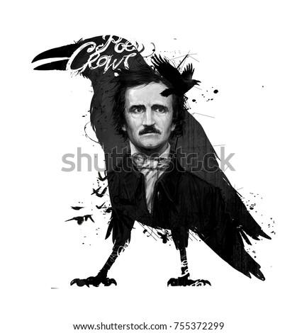 Edgar Allan Poe drawing