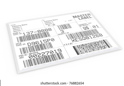EDI Label. EDI Label with sample text and barcodes