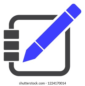 Edit records icon on a white background. Isolated edit records symbol with flat style.