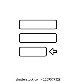 editorial, justify icon. Element of editorial design icon. Thin line icon for website design and development, app development. Premium icon