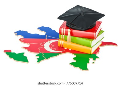 Education in Azerbaijan concept, 3D rendering isolated on white background