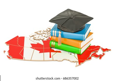 Education in Canada concept, 3D rendering isolated on white background