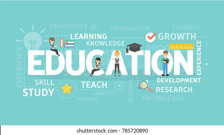 Education illustration concept. Idea of study, knowledge and technology.