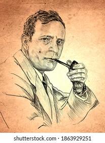 Edwin Powell Hubble ( 1889 – 1953) was an American astronomer.