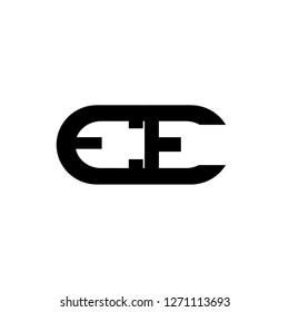 Ee letter design logo in the oval