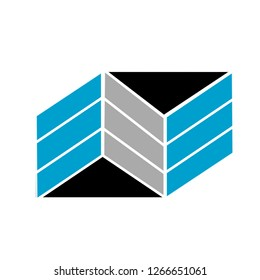 EEE letter or NNN letter design logo