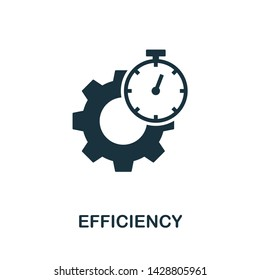 Efficiency icon illustration. Creative sign from quality control icons collection. Filled flat Efficiency icon for computer and mobile. Symbol, logo graphics.