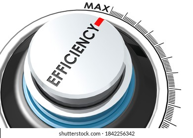 Efficiency level turn to maximum, 3D rendering