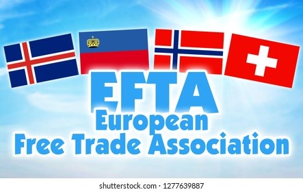 EFTA, European Free Trade Association. Economic union of some states of Europe