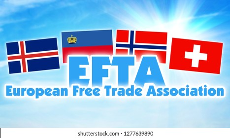 EFTA, European Free Trade Association. Economic alliance between some countries of Europe