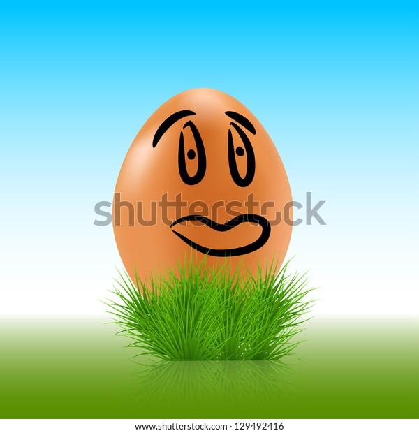 egg face background