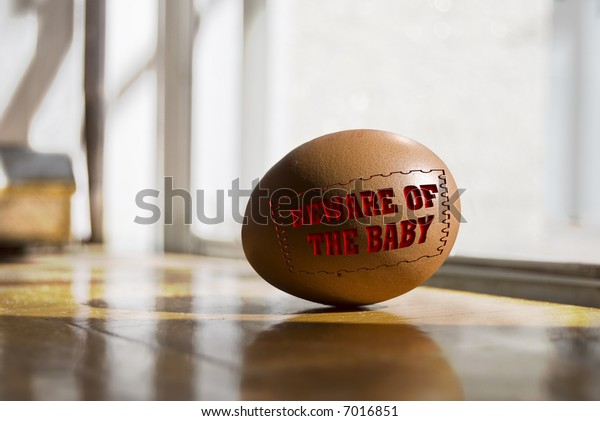 egg on the floor you must take care