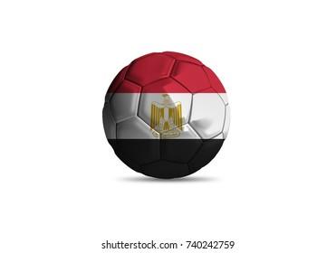 Egypt ball Flag, High quality render of 3D football ball