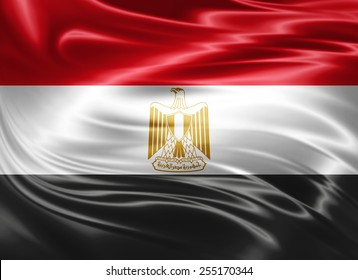 Egypt flag of silk