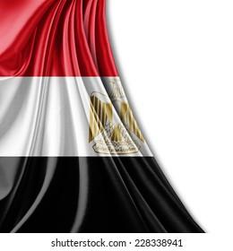 Egypt flag and white background