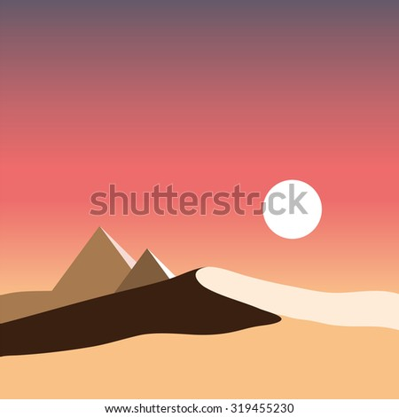 Pyramids In Egypt Map.Egypt Logo Egypt Map Desert Pyramids Stock Illustration Royalty