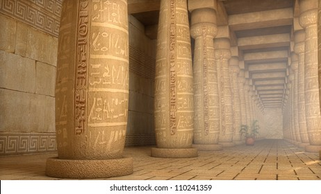 egyptian columns in palace