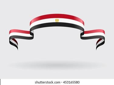 Egyptian flag background. Raster version.