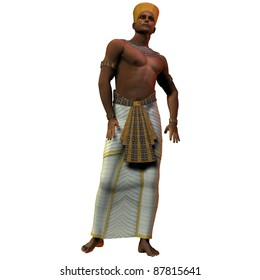 Egyptian Man 01 - A portrait of an Egyptian man and the fashion in the time of the pharoahs and rulers of ancient Egypt.