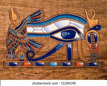 Egyptian papyrus depicting the Horus eye