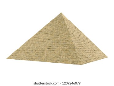 Egyptian Pyramid Isolated. 3D rendering