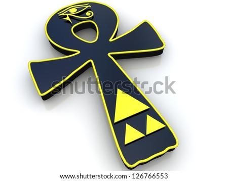 egyptian symbol life 3 d ankh stock illustration 126766553