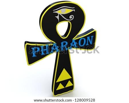 egyptian symbol life 3 d ankh stock illustration 128009528