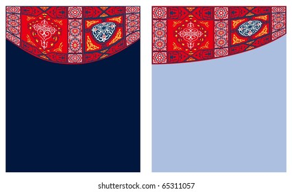 Egyptian Tent Fabric-Curtain Style3