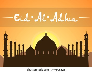 Eid Al Adhra holiday icon. Islamic religious holidays.