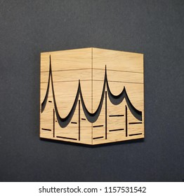 """Eid al-Adha  also called the """"Festival of Sacrifice"""", honors the willingness of Ibrahim (Abraham) to sacrifice his son as an act of obedience to God's command. Illustration of wood design for eid."""