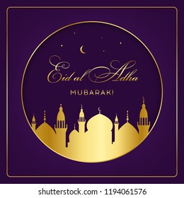 Eid al-Adha, Eid ul-Adha mubarak. Kurban Bayrami, Kurban Bajram muslim festival of sacrifice. EPS 10