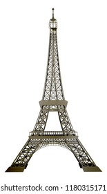 Eiffel Tower France Paris landmark metallic illustration