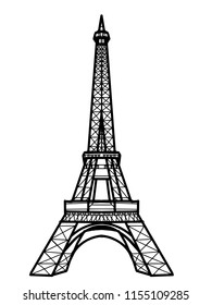 Eiffel Tower illustration drawing