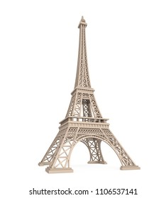 Eiffel Tower Isolated. 3D rendering