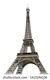 Eiffel tower isolated on white background 3d illustration