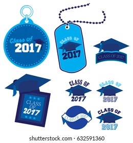 Eight mnemonics on Class of 2017 in blue